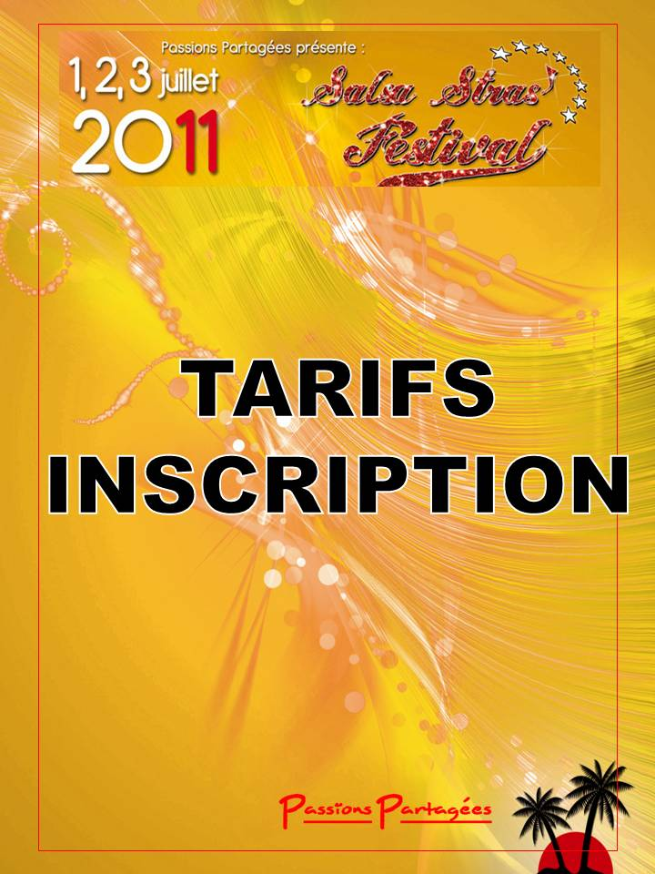 Tarifs Inscription